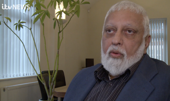 Suleman Nagdi being interviewed about FGM on ITV Central. Image courtesy of ITV Central.