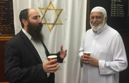 Rabbi Shmuli-Pink (left), Suleman Nagdi (right)